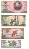 North Korea Lot Set 4 Banknotes 1978 UNC .C2. - Korea, North