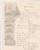 Royaume Uni Facture Lettre Illustrée 1894 ADELPHI HOTEL The Midland Raiway Hotels LIVERPOOL - Royaume-Uni