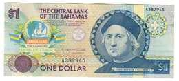 Bahamas 1 Dollar 1992 Columbus XF+/AUNC - Bahamas