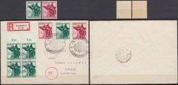 Germany - Austria, Reg. Cover / Einschreiben Brief, MiNr. 897 - 898 MiF, Innsbruck 17.7.1944 - Jena. - Allemagne
