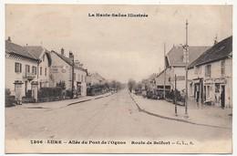 CPA - LURE (Haute Saône) - Allée Du Pont De L'Ognon - Route De Belfort - Lure