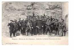 05 Briançon Skieurs Du 159 Regiment Infanterie Alpine Inspection Du Général Gouverneur De Lyon Cachet 1910 Ski Skieur - Briancon