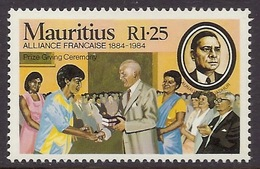 Mauritius 1984 - Centenary Alliance Francaise, French Alliance, Prize Giving Ceremony, MNH - Maurice (1968-...)