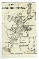 CPA Postcard - Map Of Lake Hopatcong - Harris Pittston & Arlington - Autres