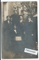 Grèves De 1920 - Carte-photo De  Cheminots Grèvistes ?? Avec Des Noms Au Verso - Grèves