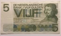 De Nederlandse Bank - 5 Gulden - 1966 - [2] 1815-… : Royaume Des Pays-Bas