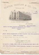 Royaume Uni Facture Lettre Illustrée 14/1/1914 SLATER RODGER The Largest Customs Bonded Warehouse In GLASGOW - Reino Unido