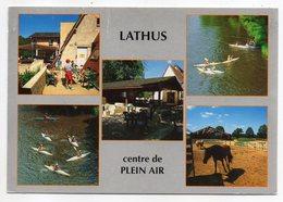 LATHUS SAINT REMY--1995--Centre De Plein Air (ping-pong,kayaks,poney-club....) Timbre -cachet Rond Lathus.......à Saisir - Autres Communes