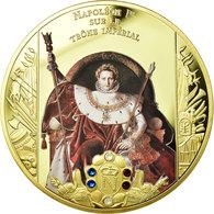 France, Médaille, Napoléon Ier Sur Le Trône Impérial, 2015, FDC, Copper Gilt - Other