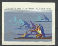 """Polen Bl.81,2678 """"Block Zu Den Olympischen Spielen Lake Placid Und Moskau 1980"""", Postfrisch Mi.:2,00 € - Blocs & Feuillets"""