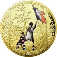 France, Médaille, Le Retour De Napoléon, 1815, 2015, FDC, Copper Gilt - Other
