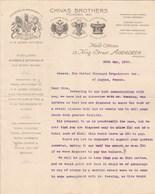 Royaume Uni Facture Lettre Illustrée 29/5/1900 CHIVAS Brothers Distillers Scotch Whisky ABERDEEN Avec Signature - Royaume-Uni