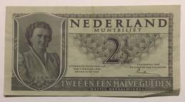 NEDERLAND MUNTBILJET - TWEE EN EEN HALVE GULDEN - 1949 - [2] 1815-… : Royaume Des Pays-Bas