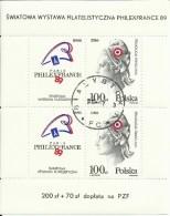 "Polen Bl.108, 3204 ""Briefm.-Ausstellung Philexfrance'89,200Jahre Französ.Revolution"" , Gestempelt Mi. 1,50 € - Blocs & Feuillets"