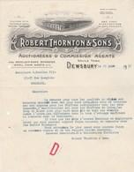 Royaume Uni Facture Lettre Illustrée 19/6/1933 ROBERT THORNTON & Sons Auctioneers & Commission Agents DEWSBURY - Reino Unido