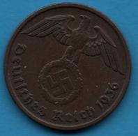 DEUTSCHES REICH  2 REICHSPFENNIG 1936 A KM# 90 (svastika) - [ 4] 1933-1945 : Third Reich