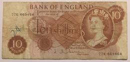 BANK OF ENGLAND - TEN SHILLINGS - 1952-… : Elizabeth II