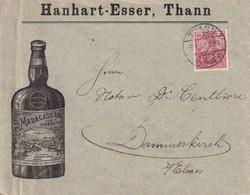 ALSACE-LORRAINE 1902 LETTRE ILLUSTREE DE THANN POUR DAMMERKIRCH - Alsace Lorraine