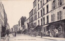 CPA - 75 - PARIS (13ème) - RUE NATIONALE Beau Plan De Commerces Et Animation Vers 1920 - CARTE Sur PLAN RARE - - Arrondissement: 13