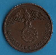 DEUTSCHES REICH  LOT 3x 2 REICHSPFENNIG 1939 A KM# 90 (svastika) - [ 4] 1933-1945 : Troisième Reich
