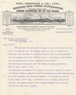 Royaume Uni Facture Lettre Illustrée 3/12/1908 DAY SUMMERS Engineers Boilermakers Ship & Yacht Builders SOUTHAMPTON - Royaume-Uni