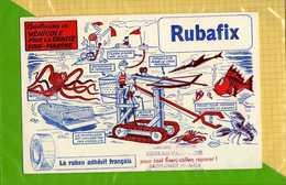 2 BUVARDS : Rubafix Dessins Inventions Creations Ronds Dans L'eau ; Chasse Sous Marine Signé Erik - Papeterie