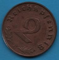 DEUTSCHES REICH 2 REICHSPFENNIG 1940 E KM# 90 (svastika) - [ 4] 1933-1945 : Third Reich
