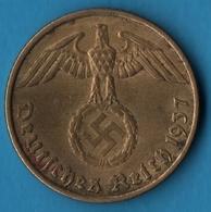 DEUTSCHES REICH 5 REICHSPFENNIG 1937 A KM# 91 (svastika) - [ 4] 1933-1945 : Troisième Reich