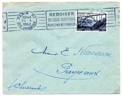 France N° 928 Y. Et T. Empreinte Paris XII (Reboiser Devoir National Placement Familial) Du 25/09/1952 - Marcophilie (Lettres)