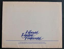 FRANCE - 1989 - PLAQUETTE EMISE PAR LES POSTES FRANCAISE ET AMERICAINES OBLITERATIONS DES 2 PAYS - Postdokumente