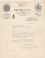 Royaume Uni Facture Lettre Illustrée 30/5/1928 JOHN HAIG Distillers LONDON - United Kingdom