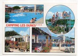 """BRETIGNOLLES SUR MER--2000--Camping """"LES DUNES""""--Multivues--timbre Killy (ski)--cachet....à Saisir - Bretignolles Sur Mer"""