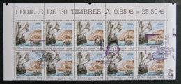 FRANCE - 2008 - 4182 - EMISSION COMMUNE FRANCE CANADA - BLOC 10 TIMBRES OBLITERES 1er Jour - 2 Cachets Distincts - FDC