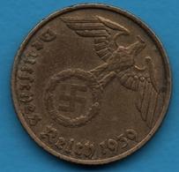 DEUTSCHES REICH 5 REICHSPFENNIG 1939 B KM# 91 (svastika) - [ 4] 1933-1945 : Troisième Reich