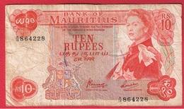 Mauritius  -  10 Rupees  -  Pick # 31c  -  état  TB- - Maurice