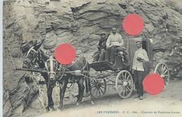 DPT 64 SUPERBE Les Pyrénées CC 866 Courrier De Panticosa - Laruns CPA TBE - Autres Communes