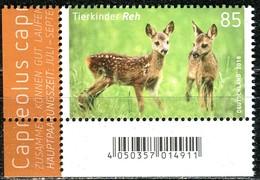 A13-22-8) BRD - Michel 3352 ECKE LIU - ** Postfrisch - 85C  Tierkinder Reh, Ausgabe: 02.01.2018 - Ungebraucht