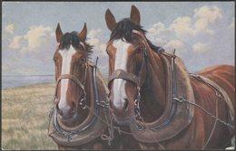 Teamwork - The Dray Horses, 1919 - James Henderson Postcard - Horses