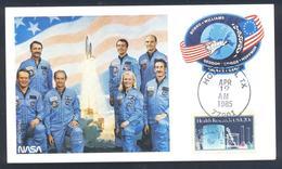 USA 1985 Card: Space Weltraum Espace: Space Shuttle - Discovery NASA Team; - Space