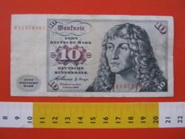 BN.01 BANCONOTA USATA VEDI FOTO - GERMANY GERMANIA 1960 10 MARCHI BARCA A VELA - 10 Deutsche Mark