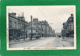 51  REIMS Avenue De Laon  Vers La  Place De La République Animation N° 318 CP Année 1945 Edit G GRAFF Et LAMBERT - Reims