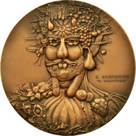 Italie, Médaille, Peinture, Giuseppe Arcimboldo, 1936, Johnson, SPL, Bronze - Italie