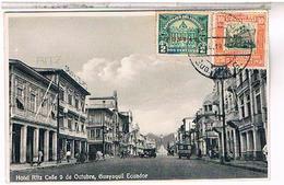 EQUATEUR GUAYAQUIL HOTEL RITZ CALLE DE 9 OCTUBRE  1931......... US213 - Equateur