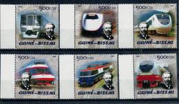 GUINEA  BISSAU  ANNIVERSARIO  DI GIULIO  VERNE    LOCOMOTIVE  DEL  MONDO   ANNO  2005       SET X 6 MNH** - Guinée-Bissau