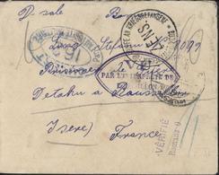 Guerre 14 Prisonnier Allemand Roussillon Isère Hongrois 4 Censures Romans Roussillon 162 Pontarlier Budapester Rare - 1. Weltkrieg 1914-1918