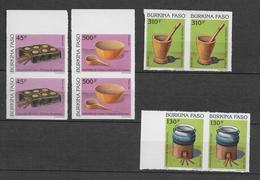 1991 - BURKINA FASO - SERIE COMPLETE YT N°849/852 En PAIRE NON DENTELES (RARE) - - Burkina Faso (1984-...)