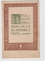 Cartolina Buon Anno 1906, Dalla Contessa Maria Marcello Alla Contessa Isabella Martinengo  - F.p. - Anno Nuovo