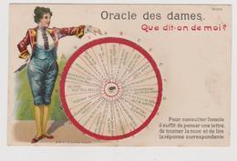 Cartolina A Sistema, Oracles Des Dames, Con Ruota Girevole  - F.p.- Fine '1800 - Cartoline Con Meccanismi