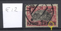 Estland Estonia 1930 Michel 87 ERROR E: 2 Variety Abart O - Estland