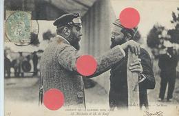 M. MICHELIN Edouard Et M. De KNIF Au Circuit Automobile De La Sarthe Juin 1906 Superbe Et Rare - Célébrités